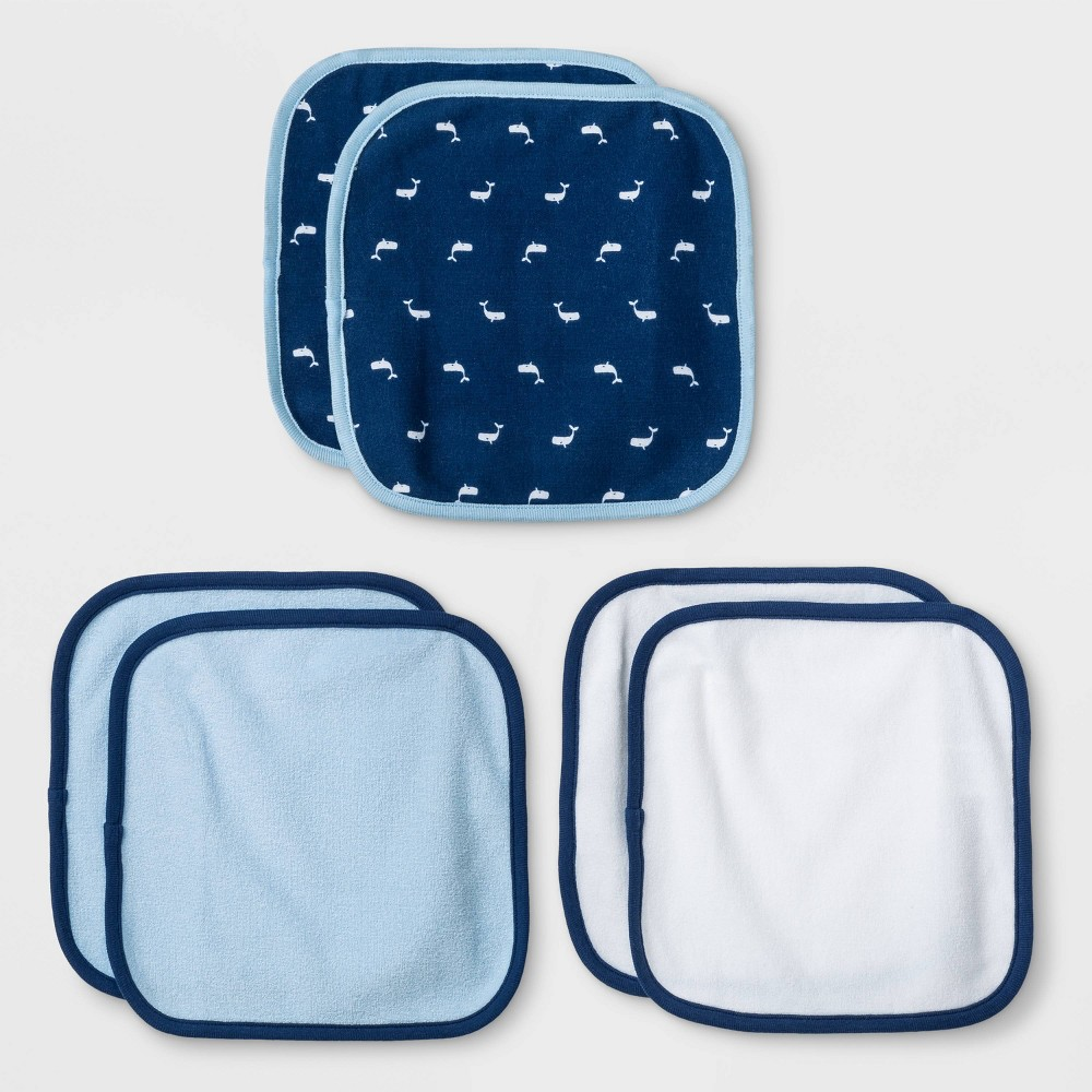 Image of Baby Boys' 6pk Sleepy Tides Washcloths - Cloud Island Blue One Size