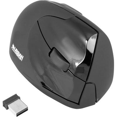 Urban Factory Ergonomic Wireless Laser Mouse 4 Buttons 2.4 GHz, Black/Gray (EMR20UF)