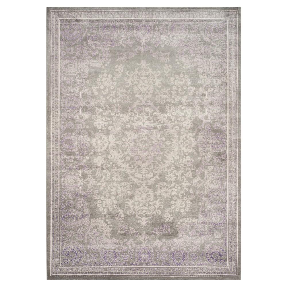 Metz Area Rug - Gray / Lavender (8' X 11' ) - Safavieh, Gray/Purple