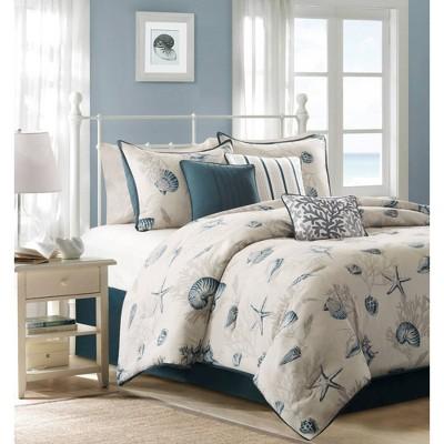 7pc Rockaway Cotton Printed King Comforter Set