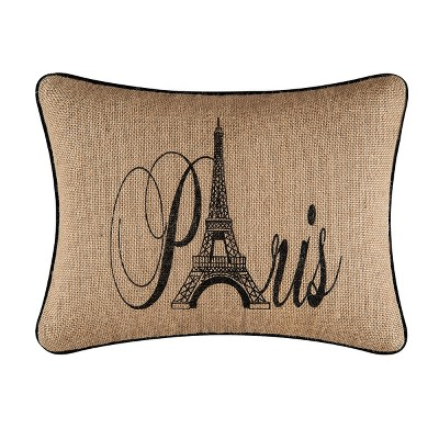 "C&F Home 12"" x 16"" Paris Burlap Printed Pillow"