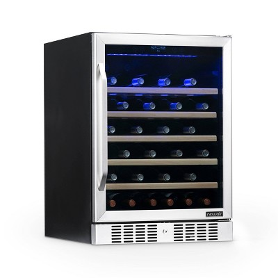 NewAir 52 Bottle Built-In Compressor Wine Cooler - Stainless Steel AWR-520SB