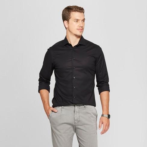 b66b8eb52dd Men's Slim Fit Long Sleeve Button-Down Shirt - Goodfellow & Co™ Black M :  Target