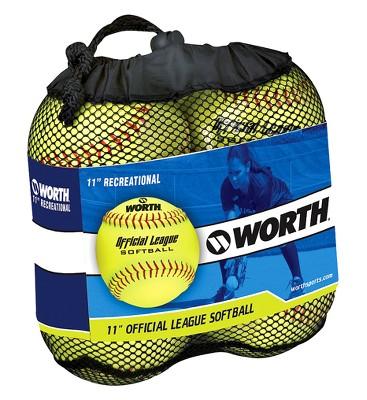 Rawlings Fastpitch Softball 4pk