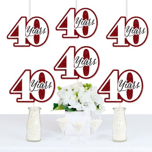 Big Dot Of Happiness We Still Do 40th Wedding Anniversary Decorations Diy Anniversary Party Essentials Set Of 20 Target