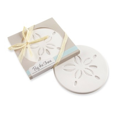 """12ct """"By the Shore"""" Sand Dollar Coaster"""