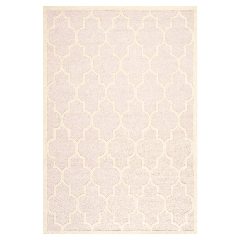 6'X9' Geometric Area Rug Light Pink/Ivory - Safavieh