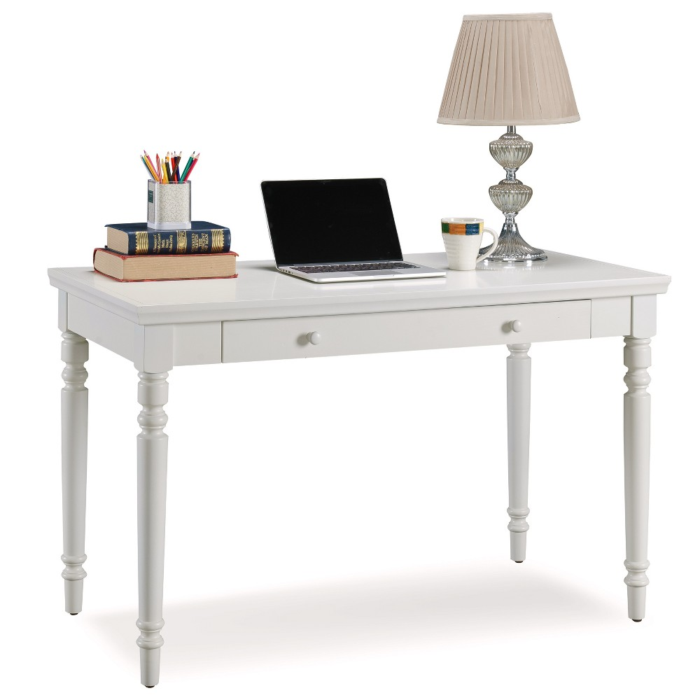 Laptop Desk with Center Drawer White - Leick Home