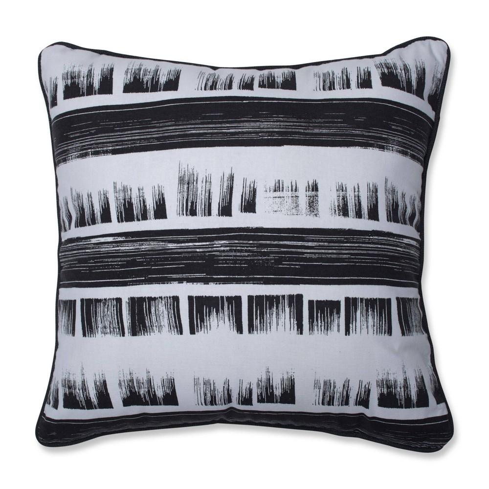 Brushed Ink Square Throw Pillow Black Pillow Perfect