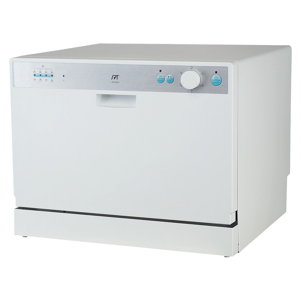 Supentown Countertop Dishwasher with Delay Start, White SD-2202W 16906689