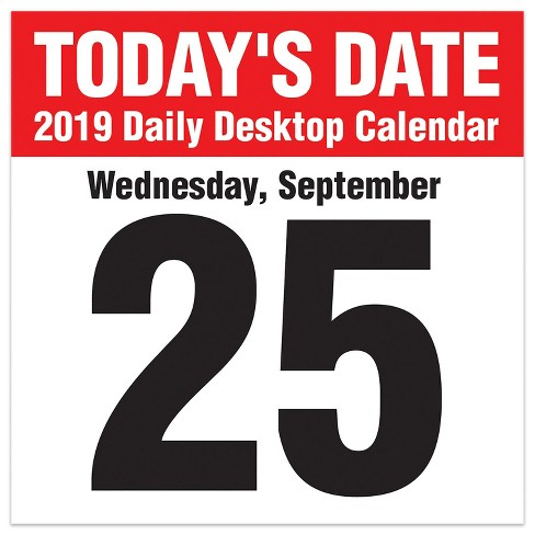 2019 Tented Desktop Calendar Today S Date Tf Publishing Target