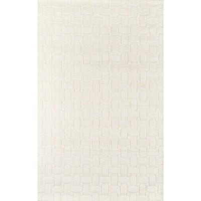 Ivory Basketweave 100% Wool Rug - Momeni