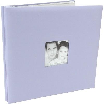 "MBI Fashion Fabric Post Bound Album W/Window 12""X12""-Lilac"