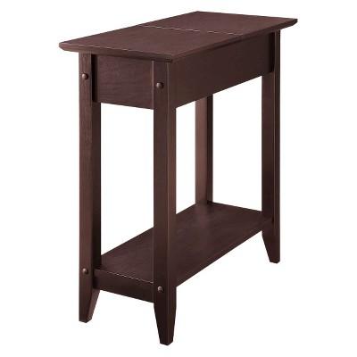 American Heritage Flip Top End Table Espresso - Breighton Home