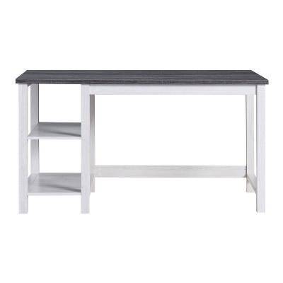 Stoneridge 2 Shelves Desk White Oak/Distressed Gray - HOMES: Inside + Out