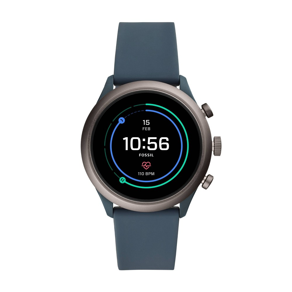 Fossil Sport Smartwatch - 43mm Smokey Blue Silicone was $275.0 now $99.0 (64.0% off)