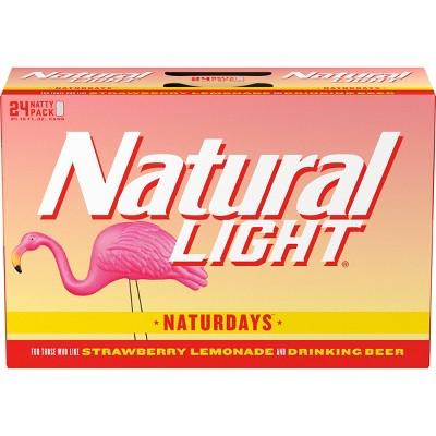 Natural Light Naturdays Lager Beer - 24pk/12 fl oz Cans
