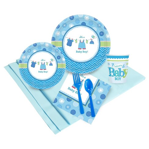 Baby Shower Boy Shower with Love Party Tableware Pack - image 1 of 1