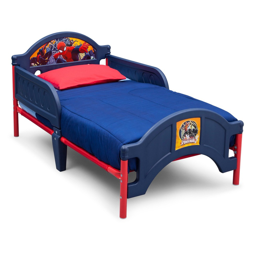 Marvel Spider-Man Plastic Toddler Bed - Delta Children, Multi-Colored
