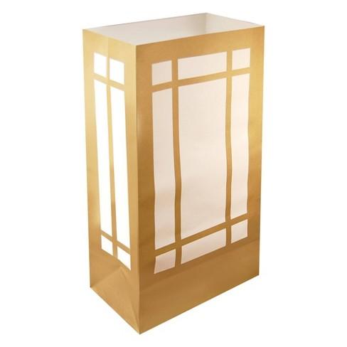 24ct Lantern Luminaria Bags Gold - image 1 of 2