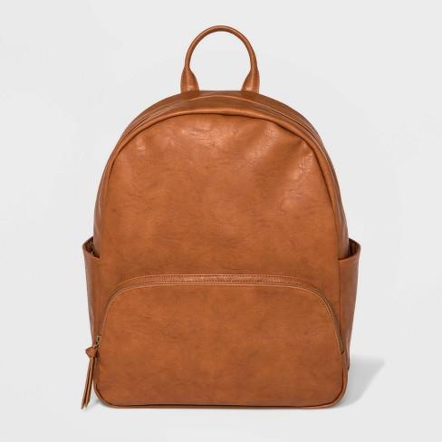 Front Zip Pocket Backpack - Universal Thread™ Cognac - image 1 of 4