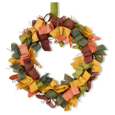 22  Ribbon Garden Accents Easter Wreath - National Tree Company