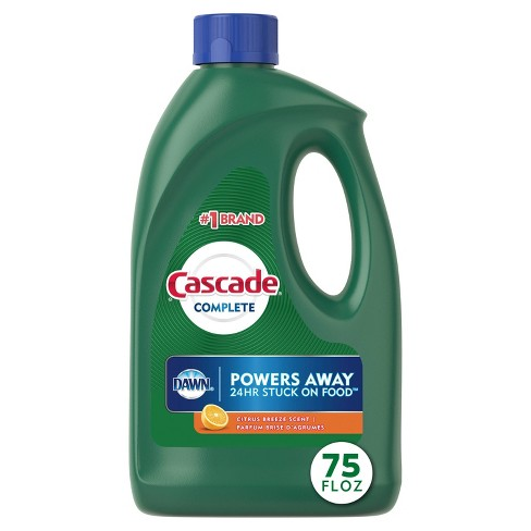 Cascade Complete Dishwasher Detergent Gel with Dawn Grease Fighting Power, Citrus Breeze Scent - 75oz - image 1 of 4