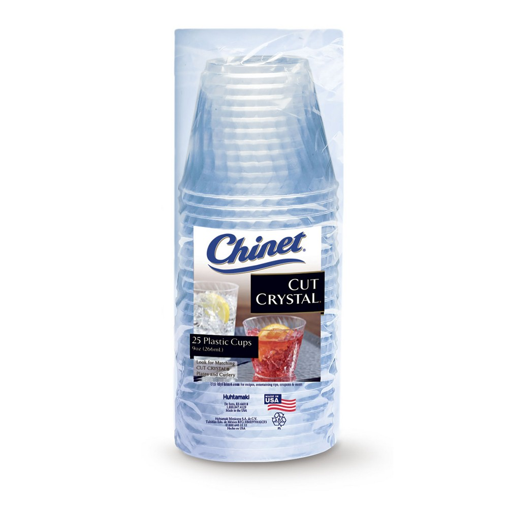 Chinet Disposable Plastic Cups - 25ct, Clear