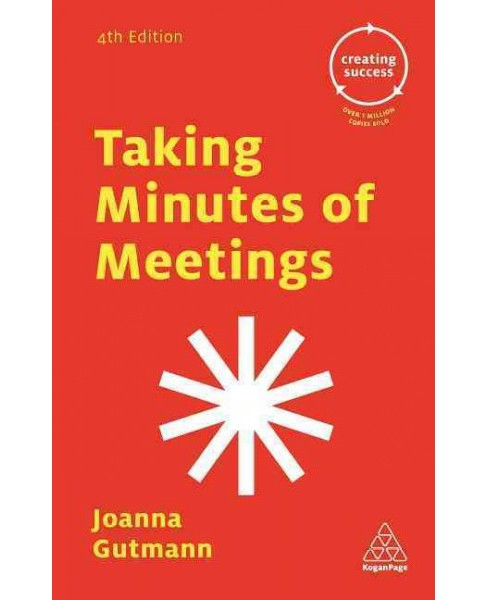 Taking Minutes of Meetings (Paperback) (Joanna Gutmann) - image 1 of 1