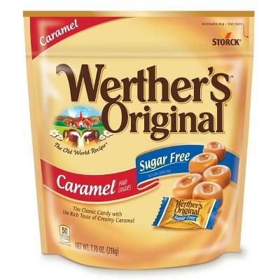 Werther's Original Sugar Free Hard Candy Stand Up Bag – 7.7oz