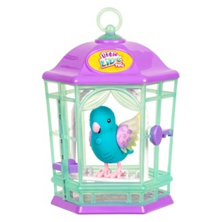 Little Live Pets Light Up Songbirds With Cage  - Blue