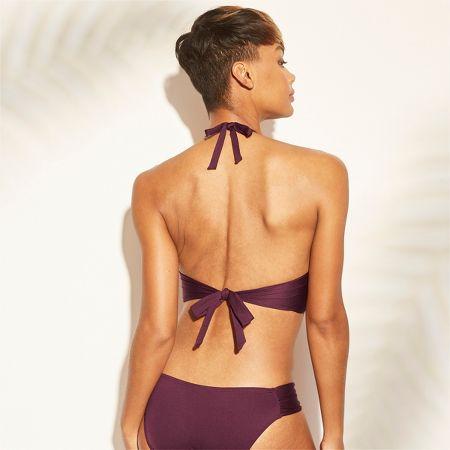 230771e1c22 Women39s Faux Wrap Halter Bikini Top Kona Sol Royal Burgundy