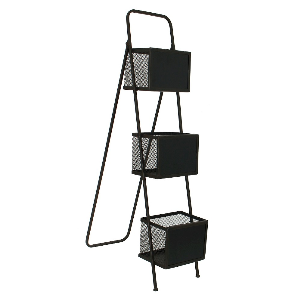 Metal Storage Organizer Magazine Rack Chalkboards - E2, B...