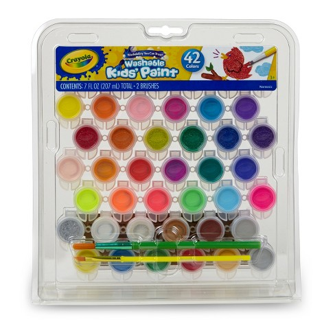 Crayola Washable Kids' Paint Set 42ct - image 1 of 6