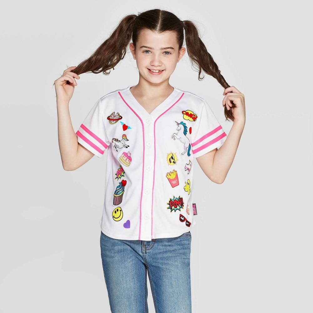 Image of Girls' JoJo's Closet Baseball Jersey - White XL Plus, Girl's