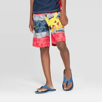 Boys Pokemon Swim Shorts Trunks Holiday Swimming Beach