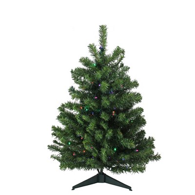 Northlight 3' Prelit Artificial Christmas Tree Canadian Pine - Multicolor LED Lights