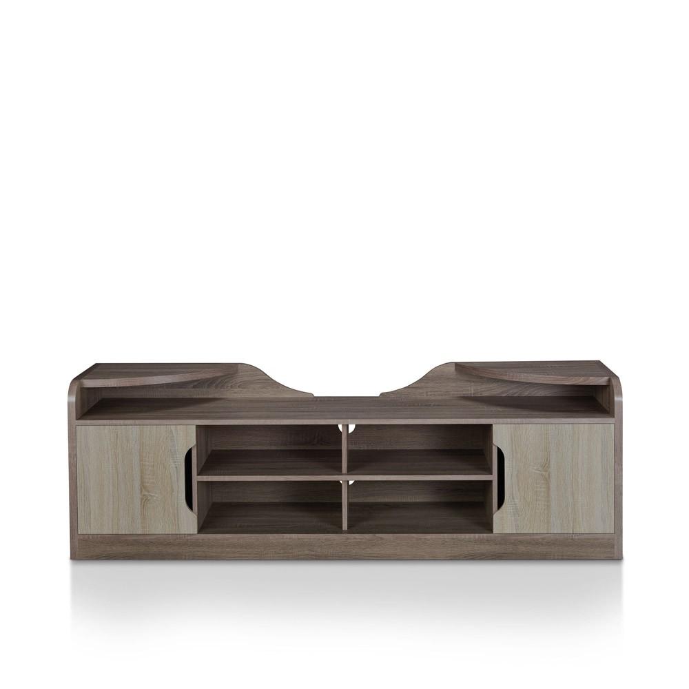 80 Ingley Storage TV Stand Chestnut Brown - miBasics
