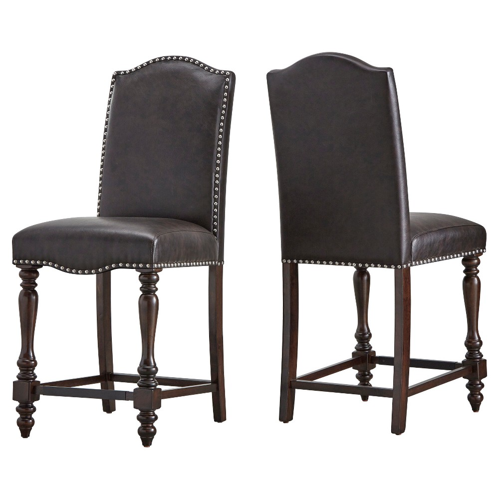 """Image of """"24"""""""" Highland Hills Counter Stool - Brown (Set of 2) - Inspire Q, Truffle"""""""