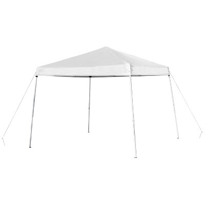 Flash Furniture 8'x8' Outdoor Pop Up Event Slanted Leg Canopy Tent with Carry Bag