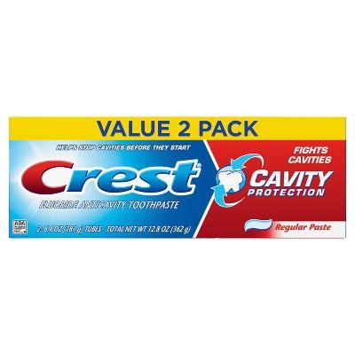 Crest Cavity Protection Toothpaste Regular 2pk - 12.8oz
