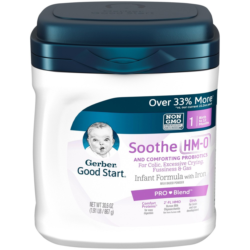 Gerber Good Start Soothe (Hmo) Non-Gmo Powder Infant Formula - 30.6oz