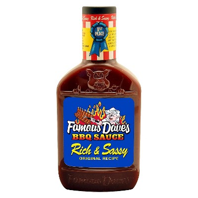Famous Dave's Rich & Sassy Barbeque Sauce - 20oz