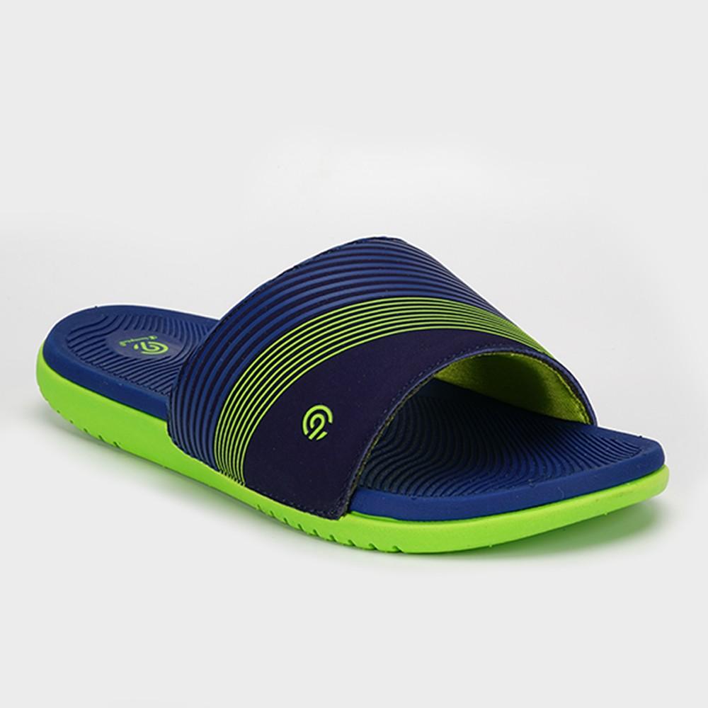 Boys' Patch Slide Sandals - C9 Champion Navy (Blue) XL