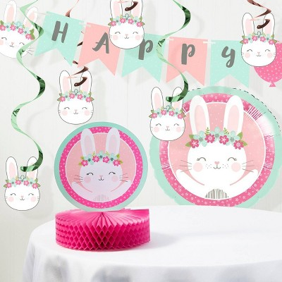 """Happy Birthday"" Bunny Print Decoration Kit"