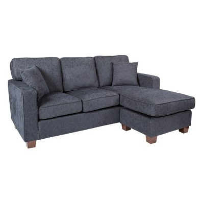 Russell Sectional With 2 Pillows Navy - OSP Home Furnishings