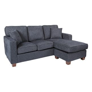 Russell Sectional With 2 Pillows Taupe - OSP Home Furnishings