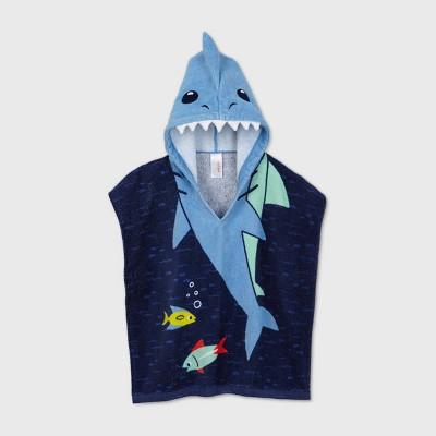 Toddler Boys' Shark Hooded Cover Up - Cat & Jack™ Blue