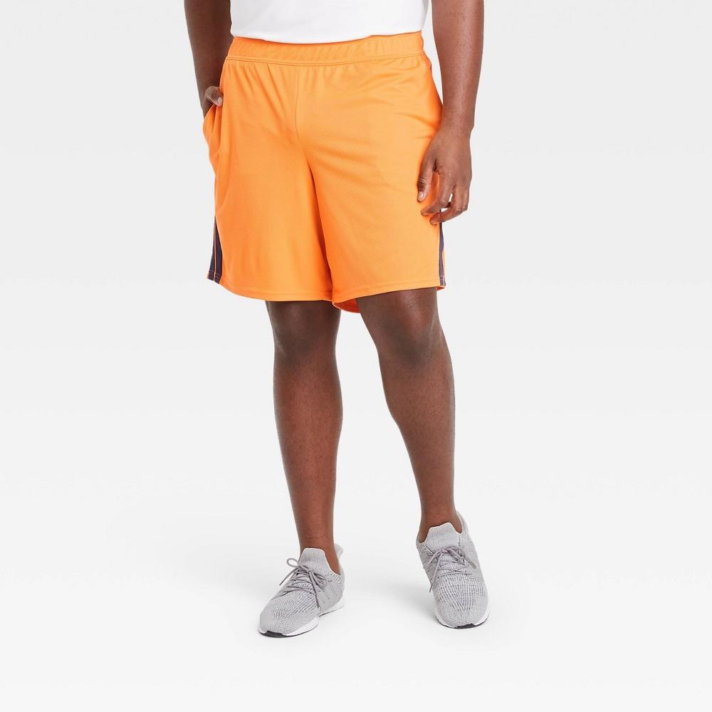 Men 39 S Mesh Shorts All In Motion 8482 Orange S
