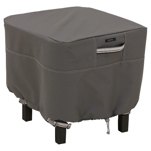 Ravenna Small Square Patio Ottoman Side Table Cover Dark Taupe Classic Accessories Target